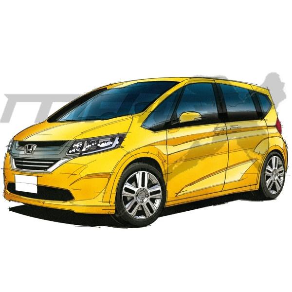 Sketsa Generasi Baru Honda Freed Mulai Beredar