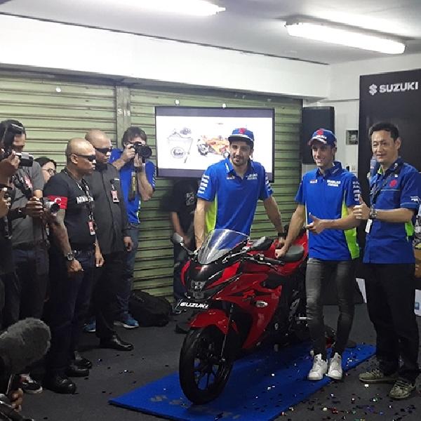 Duo Pebalap MotoGP Suzuki Resmikan GSX-150 R Tanpa Keyless, Harga Lebih Ekonomis