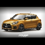 Digital Render Suzuki Swift Sport