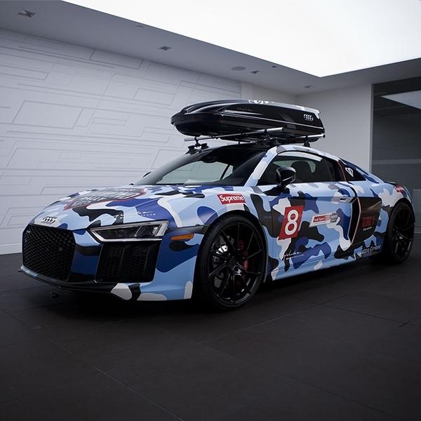 Modif Audi R8 dengan Roof Box, Terlihat Aneh?