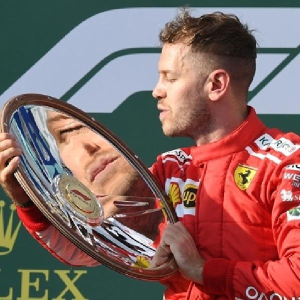 GP F1  Australia, Sebastian Vettel Akui Keberuntungan di Pihak Ferrari
