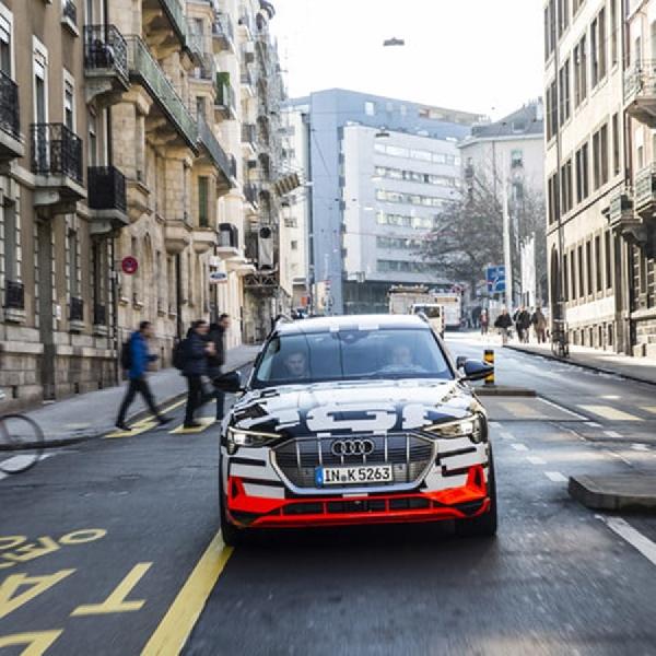 Audi e-tron Quattro Terlihat Sedang di Uji di Kota Jenewa