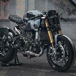 Modif Ducati Panigale 1299, Thornton Usung Gaya  Modern Cafe Racer 220 Hp