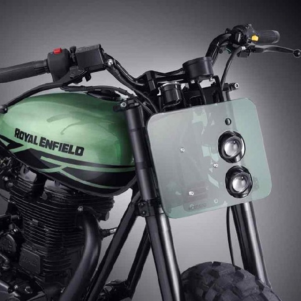 Modifikasi Royal Enfield Classic 500 Green Fly