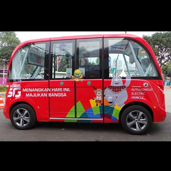 Pengalaman Menjajal Mobil Listrik Otonom di Asian Games 2018