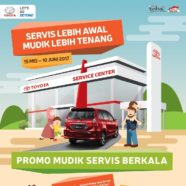 Toyota Berikan Diskon Servis Mudik