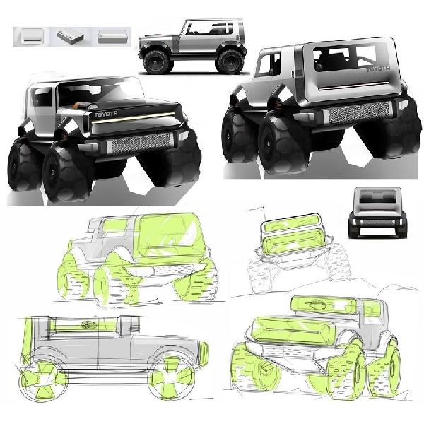 Desain Minimalis Luar Biasa Rendering Toyota FJ Cruiser