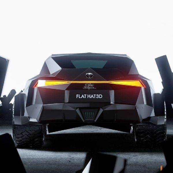 """Toyota Supra Tiru Truk Tesla dalam """"Rendering Cyber"""""""