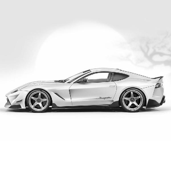 Rendering Supercar Toyota Supra Menyerupai Desain Ferrari GT
