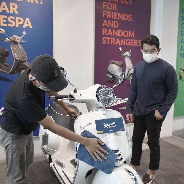 Cegah Penularan Covid-19, Diler PT Piaggio Indonesia Terapkan Prosedur Kesehatan