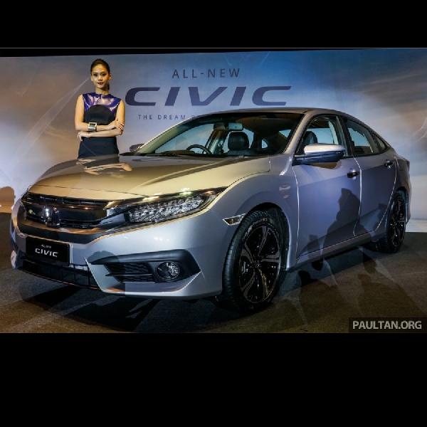 Resmi Meluncur di Malaysia, All New Honda Civic Dibanderol Rp 362-462 Juta