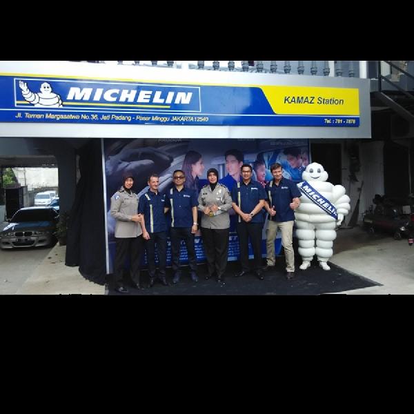 Michelin Gandeng Kamaz Station dengan Membuka Bengkel Cepat