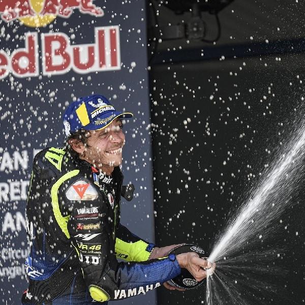 MotoGP: Setelah Sekian Musim Menanti, Valentino Rossi Naik Podium Lagi