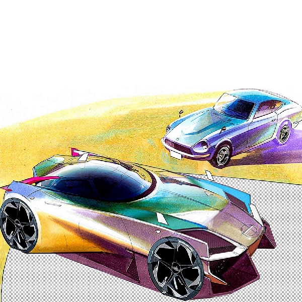 Visioner, Ini Render Nissan 400Z Karangan Maxim Shershnev