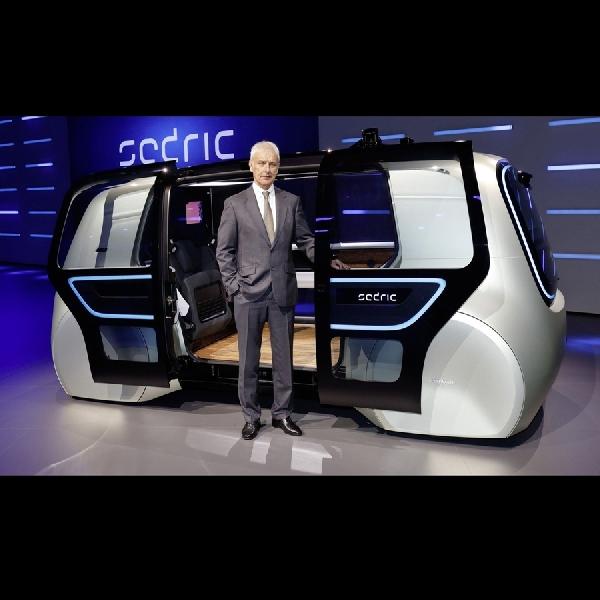 Volkswagen Kenalkan Kendaraan Otonom Tanpa Pedal Gas dan Setir