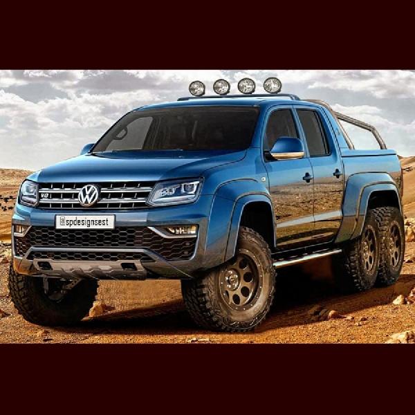 Volkswagen Unggah Rendering Amarok 6x6