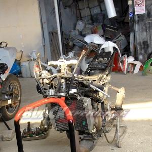 Tampak asli rangka Kawasaki Ninja RR150 Racing