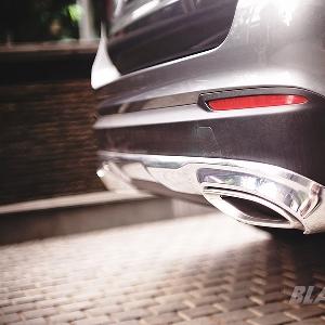 Exhaust ikuti bentuk bumper