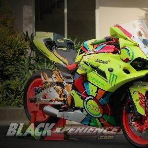 Ducati Panigale 848 dengan menyematkan nomor 46 milik pembalap Rossi