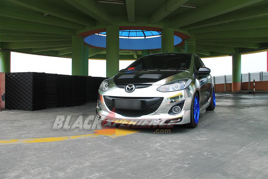 Hasil akhir Mazda2 street racing mencapai final modifikasi