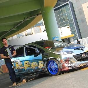 Jalsion memberikan komentarnya mengenai modifikasi Mazda2 street racing miliknya