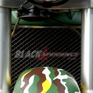 Spakbor custom berlapis warna hijau loreng
