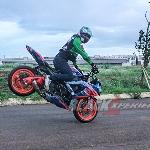 Aksi Stunt Bike Tandai Selesainya Modifikasi Witjax Modizigner