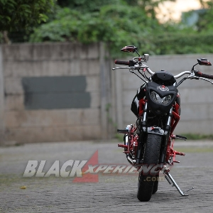 Modifikasi Yamaha Scorpio street fighter