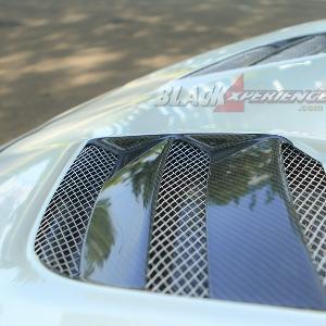 Carbon fiber engine hood vent