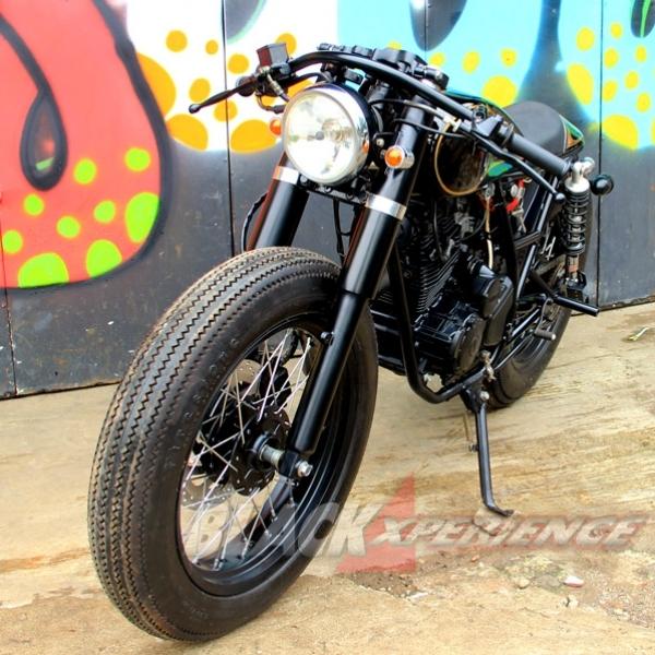 Modifikasi Klasik Cafe Racer Yamaha Scorpio