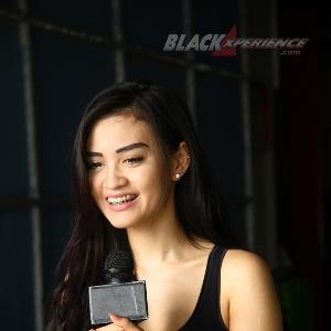Putri Lanna saat syuting