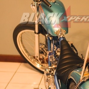 Modifikasi Yamaha Scorpio - The Blue Pon Chopper