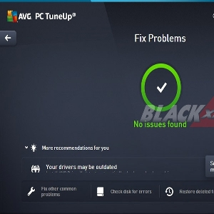 Menu Fix Problems AVG PC TuneUp