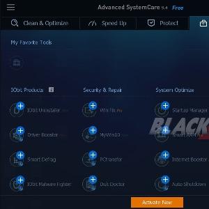 Menu Toolbox Manage Advance System Care