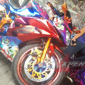 Motor modifikasi milik anggota Women on Wheel