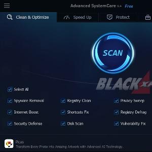 Tampilan Utama Advance System Care
