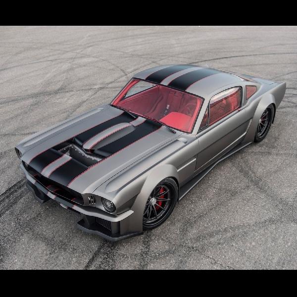 Retro Beast Modifikasi Mustang Vicious 65 Bertenaga 1000 hp