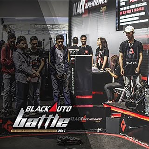 Activity Booth Blackxperience at The Final Black Auto Battle 2017 Bandung