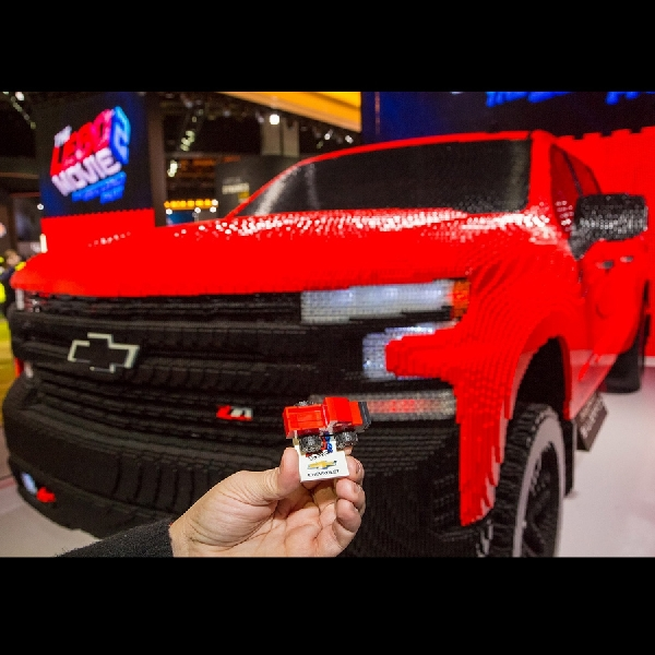 Kolaborasi Chevrolet dengan Lego Gencarkan Kampanye Silverado