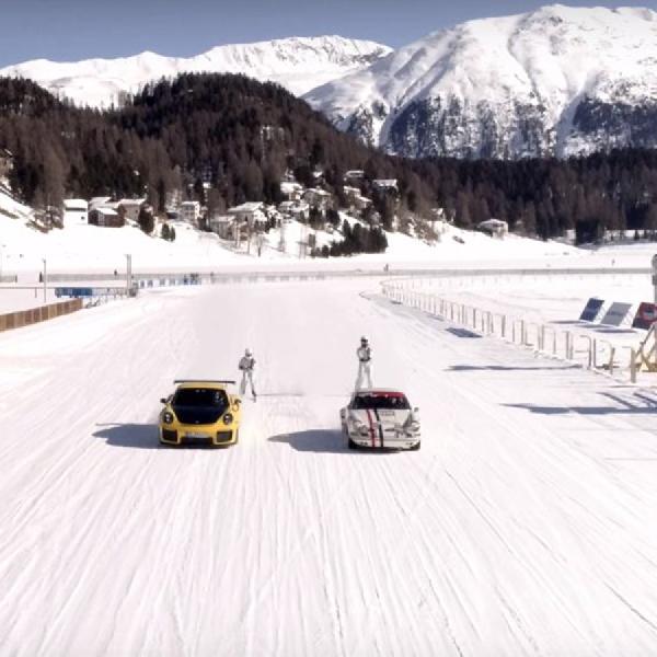 Porsche RS 911 GT2 dan 911 Bermain Balet di St. Moritz Swiss