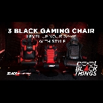 3 Black Gaming Chair, Level up Your Game with Style