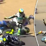 Kecelakaan Massal Terjadi Jelang MotoGP Perancis 2017