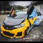 Modifikasi Jazz Blue-Yellow Ekstrim