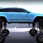 Jeep Grand Cherokee dengan Mudah Melewati Kemacetan yang Panjang