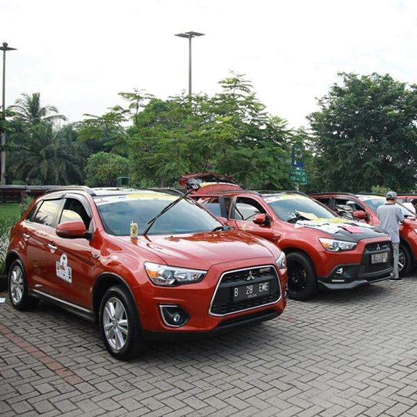 Komunitas Outlander Sport Club Sambangi Kota Lampung
