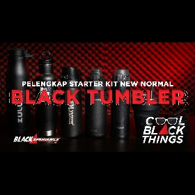 6 Black Tumbler / Vacuum Flask, Pelengkap Starter Kit New Normal