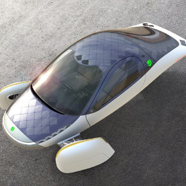 Aptera the Sol: Kendaraan Elektrik Beroda Tiga dengan Desain Futuristik