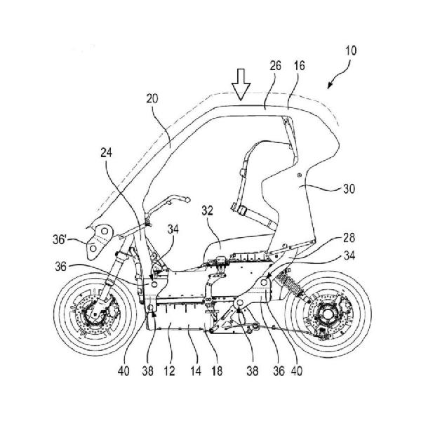 BMW Kembangkan Skuter Listrik Dengan Atap, Airbag, dan Aerodinamika Aktif