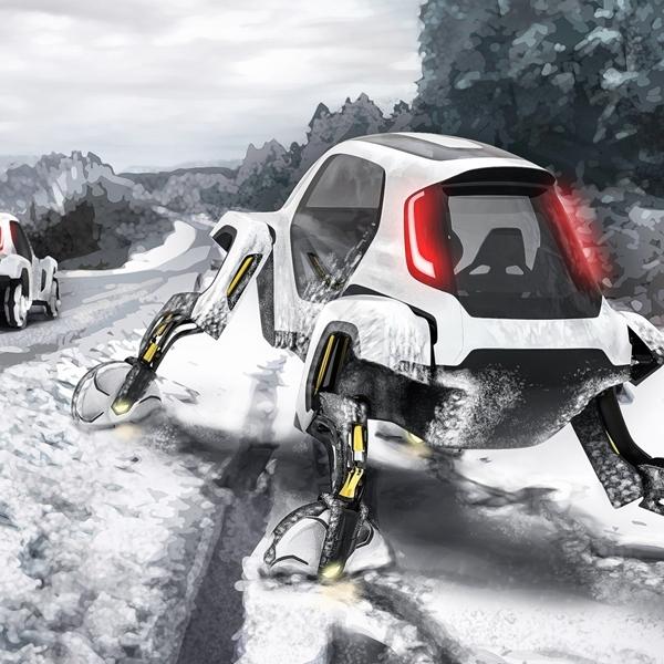 """Hyundai Pamerkan Konsep """"Walking Car"""" Untuk Jangkau Medan Berat"""