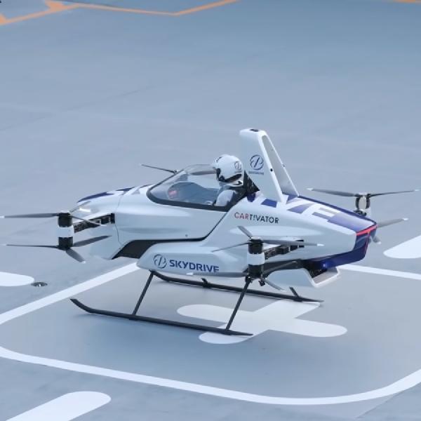 'Mobil Terbang' Jepang Sukses Meluncur dengan Pilot Manusia